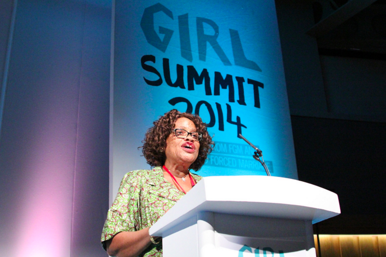 Minister Julia Duncan Cassell, speaking at the 2014 Girl Summit.